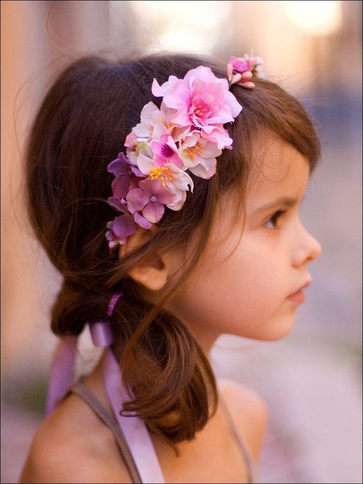 Couronne de fleurs pour enfant: Ornella (pastel)