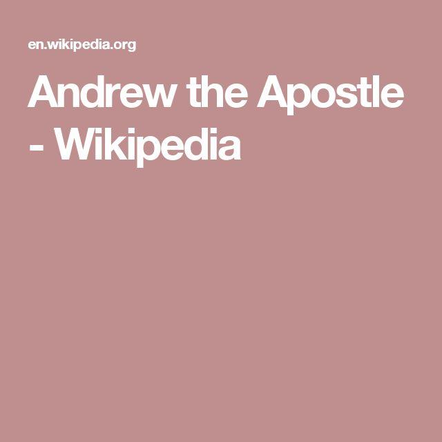 Andrew the Apostle - Wikipedia