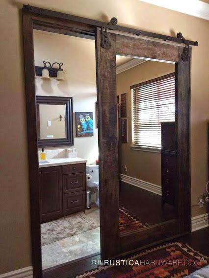 Puerta para el ba o con espejo hogar pinterest house for Puertas para el hogar