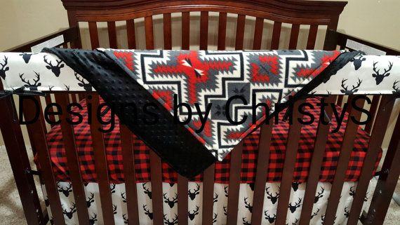 Bébé garçon literie  lit Buck chevreuil Lodge par DesignsbyChristyS