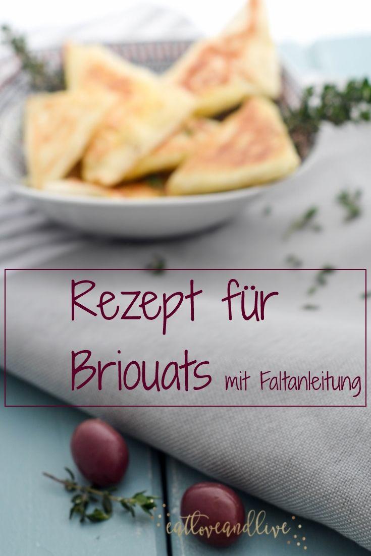 Recipe for Briouats with goat cheese including instructions for the dumplings  Rezept für Briouats mit Ziegenkäse inkl. Faltanleitung für die Teigtaschen