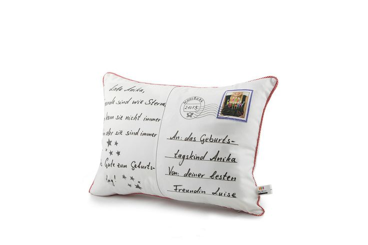 Kissen Postkarte // Pillow postcard by My Pillow Factory via DaWanda.com
