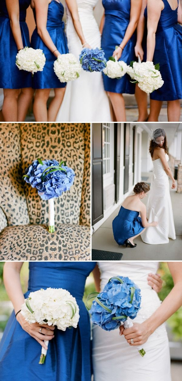 this is cute ...brides flowers are the same color as bridesmaids dresses