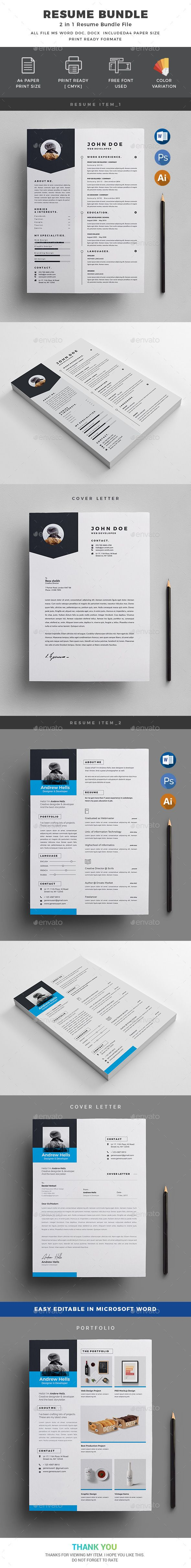 Resume Bundle2 in 1 24 best Resume