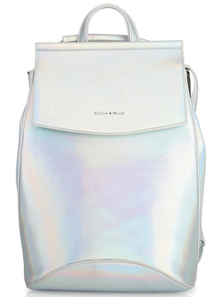 Kim Convertible Backpack to Shoulder Bag - Holographic | The Kim Convertible Backpack is made of 100% VEGAN LEATHER and can be converted into a cross body bag! #torontofashion #CanadianDesigners #canadianfashion #canadianfashionblogger #canadiandesigner #canadianbrands #veganleather #veganfashion #crueltyfree #pixiemood #pixiemoodbag #vegantotes #backpack #veganpurse #purse #convertiblebag #convertiblebackpack #crossbodybag #crossbodypurse #crossbodyshoulderbag #springfashion #torontostyle