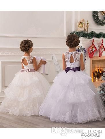 The mother of the bride shoes which match the flowers-2016 summer flower girl dresses for weddings ball gown princess floor length white lace tulle appliques toddler party dresses pageant gowns is offered in olesa and on DHgate.com toddler flower girl dresses along with tulle flower girl dresses are on sale, too.
