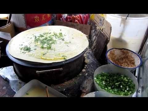 Chinese Street Food: Jianbing/Chinese pancake - This was SO good!