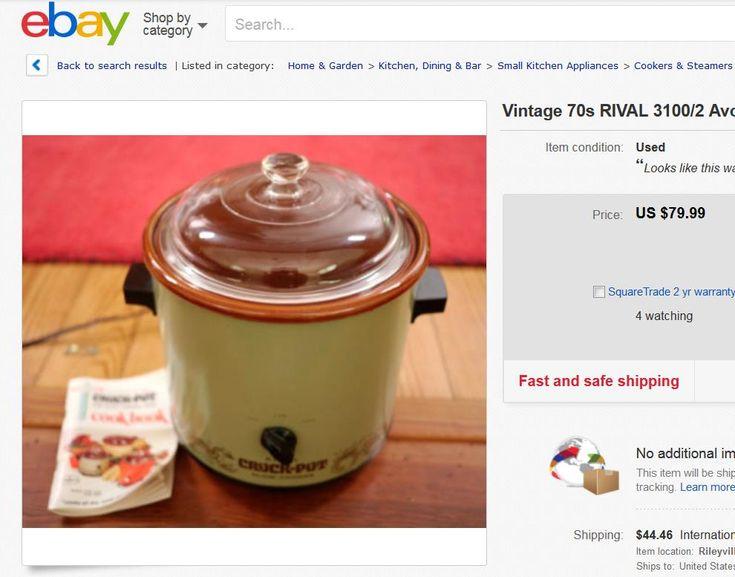 """Vintage"" Rival Crockpot versus New"