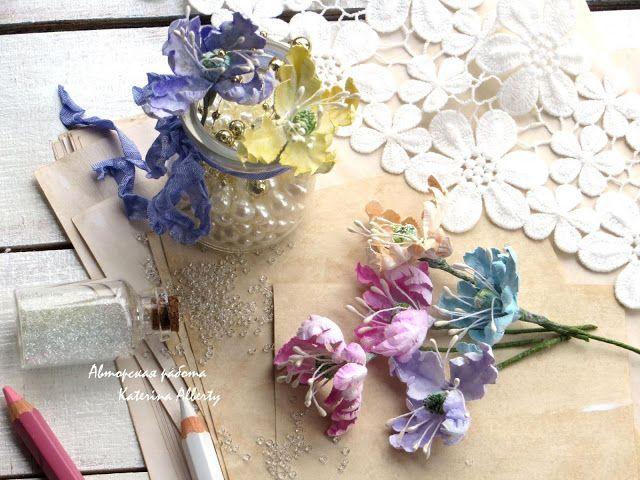 """Полет души: Цветы """"а-ля Prima"""" и первая зимняя открытка)"""