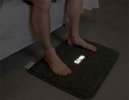 A new type of alarm clock: stand on the mat to turn it off!  I so need this for the twins!!