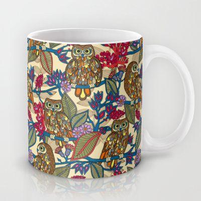 My boobooks owls.  Mug by Juliagrifol designs - $15.00owls#pattern#mug#kitchen#design#society6