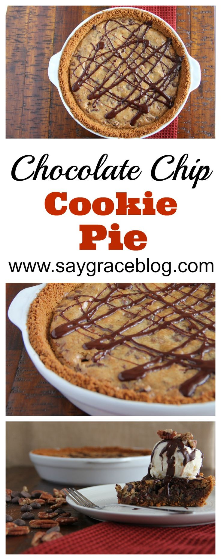 A slice of  chocolate gooey decadent goodness that is dreamt about often is this chocolate chip cookie pi(e)!!