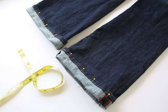 How to Hem Jeans {and Keep the Original Hem} by @Abby