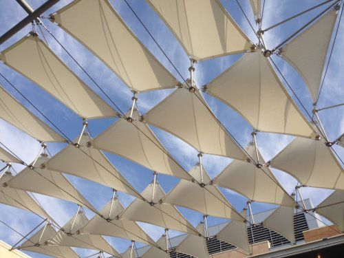 Architectural Fabric Sails at the Bourns College of Engineering, University of California, Riverside  Textile Blog -  | Trends | Style | Innovation | Technology | Textilepedia - The Textile Encyclopedia