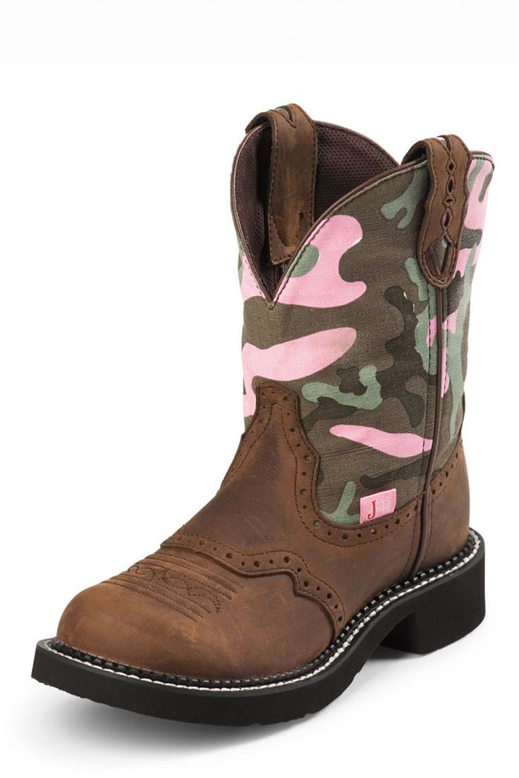 Justin Gypsy Aged Bark Pink Camo Cowgirl Boots - only $89.95!