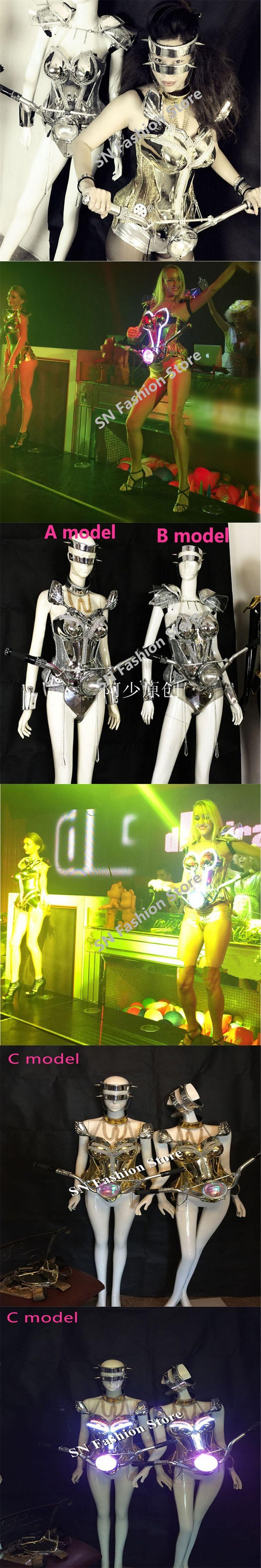 WX16 Bar Singer led light dance costumes led light dj disco ballroom clothes dress Nightclubs Catwalk stage cosplay show wears