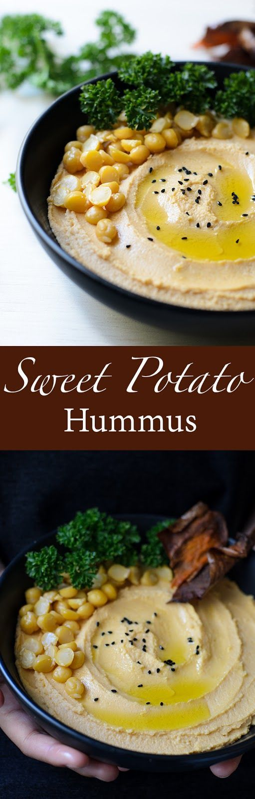 . Hummus and mashed sweet potato, excellent with crisp sweet potato ...