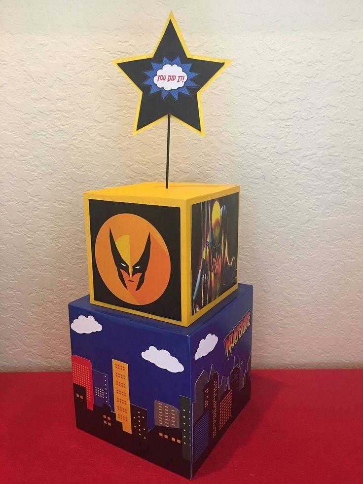 Wolverine superhero Inspired Centerpiece Batman, Superman, deadpool, superhero party supplies, superhero party decorations, superhero event