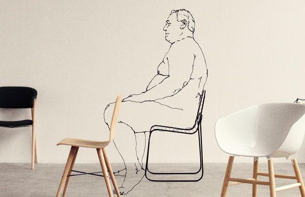 Оригинальный стул из проволоки