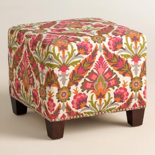 One of my favorite discoveries at WorldMarket.com: Felicity McKenzie Upholstered Ottoman