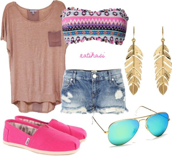 """""""Summer Beach Outfit"""" by natihasi on Polyvore"""