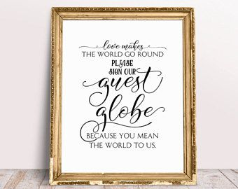 The 25+ best Globe guest books ideas on Pinterest | Guest books ...