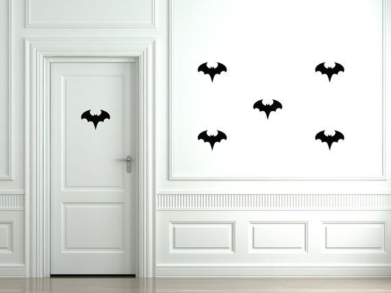 Removable Bat stickers by BC Magic Wallpaper - Batman has returned! Watch out for the man with the mask..