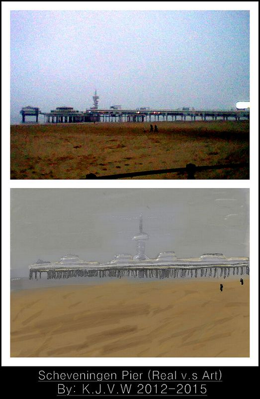 Real v.s Art - Scheveningen Pier  A humid November day in Scheveningen.