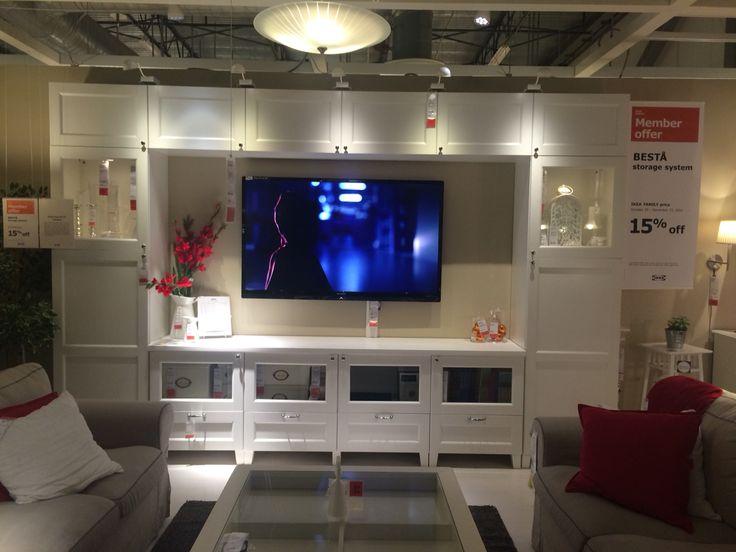 Ikea Besta Entertainment Center Living Room Pinterest