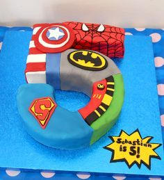 no 5 justice league cake - Google Search