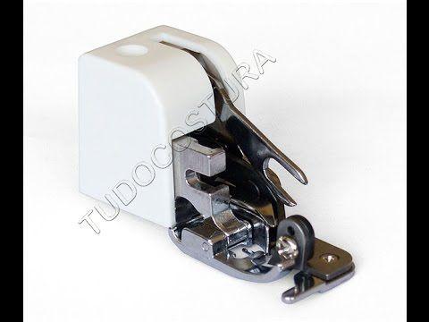 Calcador de Fazer Overlock em Máquina Zig Zag Domésticas com Faca de Arr...
