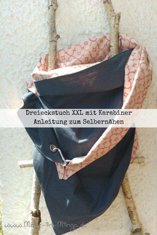 Grosses XXL Dreieckstuch selber nähen