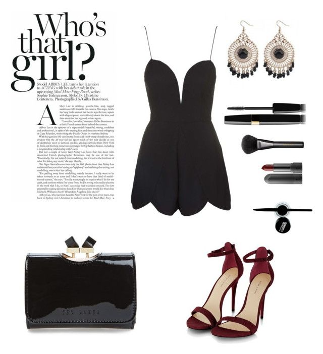 """""""Promiscuous"""" by sophiaxba on Polyvore featuring Mode, Rare London, Ted Baker, Gucci und Maybelline"""