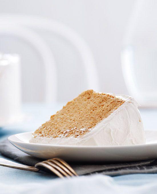 Anna Olson's Earl Grey chiffon cake with maple meringue