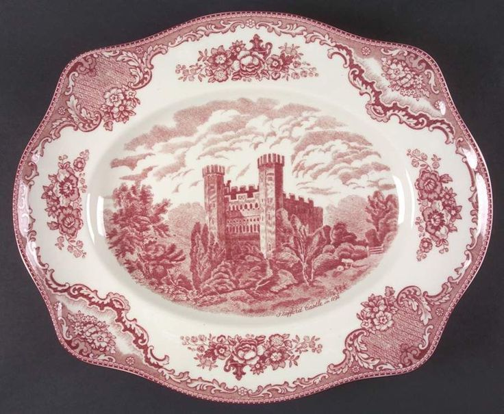 Johnson Brothers OLD BRITAIN CASTLES PINK 15 1/8  Oval Serving Platter 4740829 picclick & 56 best Johnson Bros Old Castles images by Jussara Resende on ...