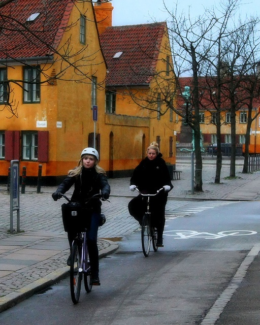 Nyboder. Copenhagen, DK. Danes ride bikes more than any other European country.