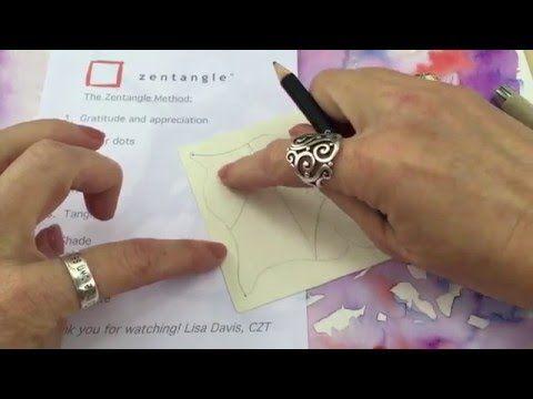 Zentangle tutorial - YouTube