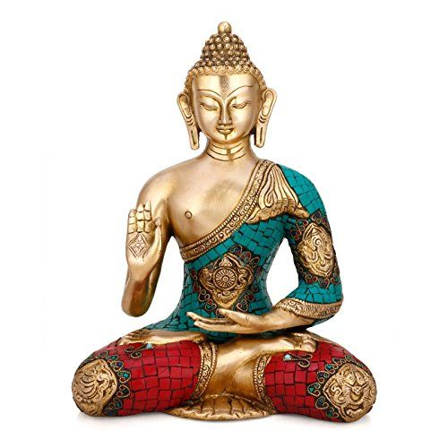 "11"" Large Buddha Statue Brass Showpiece Sculpture Turquoi... https://www.amazon.co.uk/dp/B015MVS2FG/ref=cm_sw_r_pi_dp_x_gA6Wyb532KEFX"