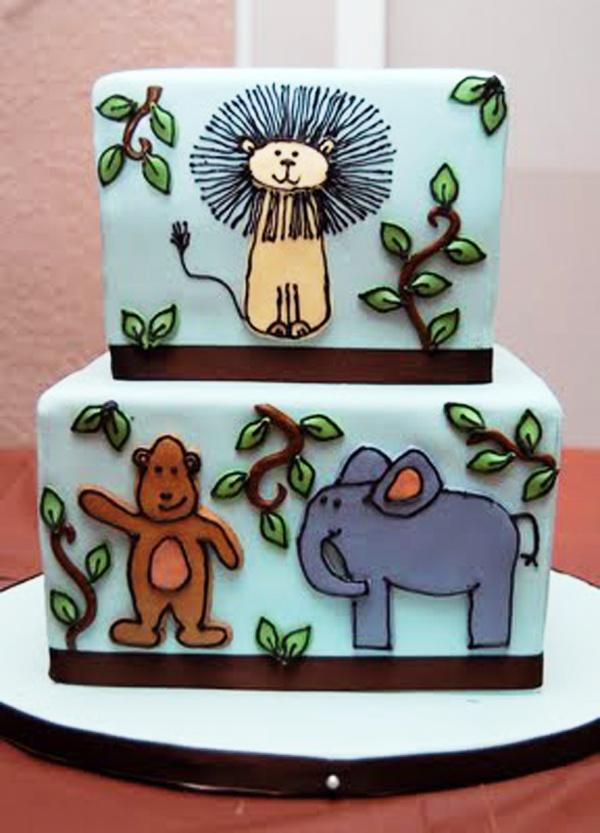 cute animal cake