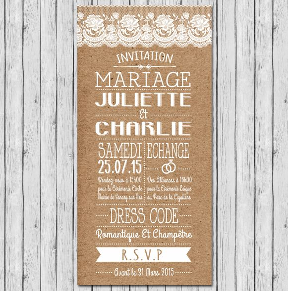 Texte invitation mariage boheme