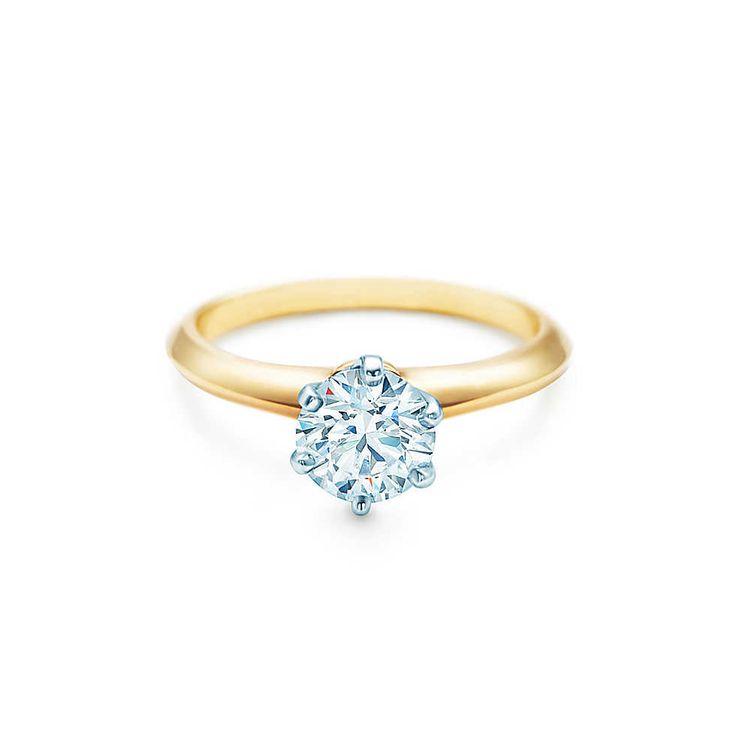 tiffany & co. engagement ring. setting. gold.