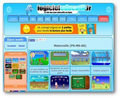 logicieleducatif.fr | Logiciel éducatif, Jeu educatif, Jeux éducatifs en ligne