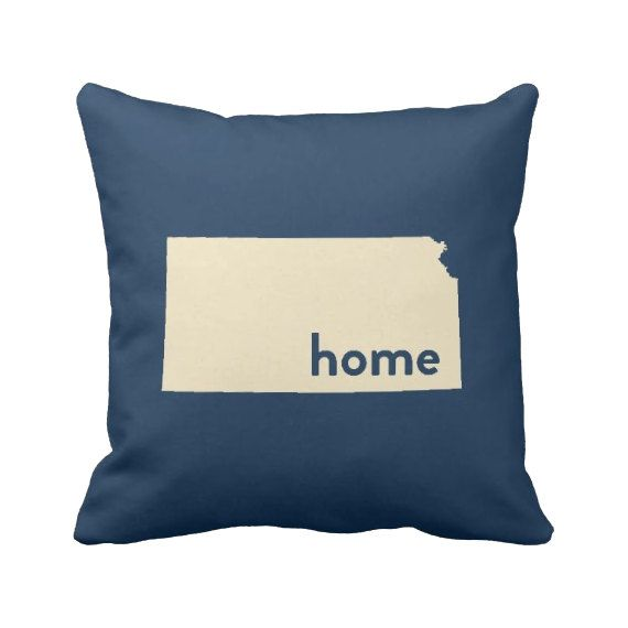 Kansas Pillow 16'' or 20'' Home Pillow State by laurenmaryHOME