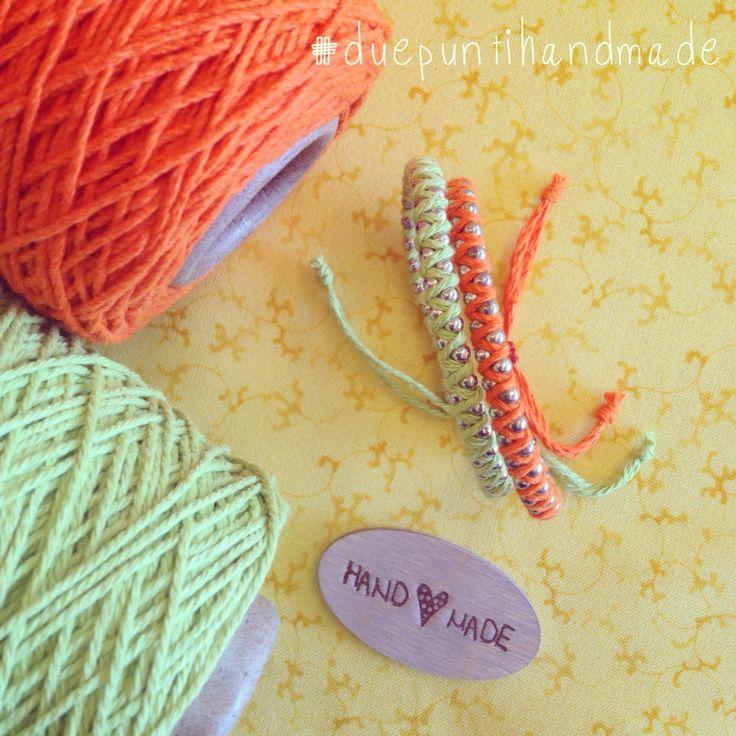 #bracelets #cotton #colors #duepuntihandmade