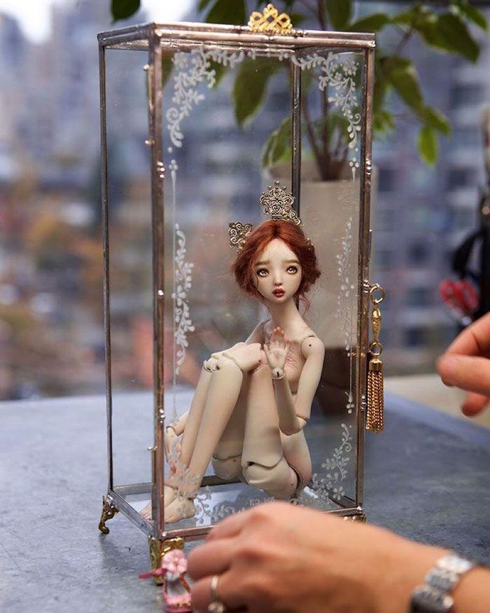 Handmade-adult-porcelain-enchanted-doll-marina-bychkova