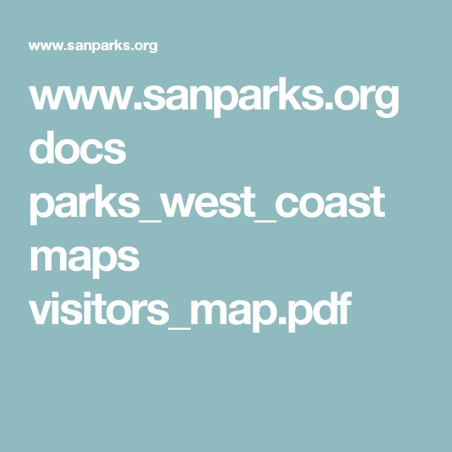 www.sanparks.org docs parks_west_coast maps visitors_map.pdf