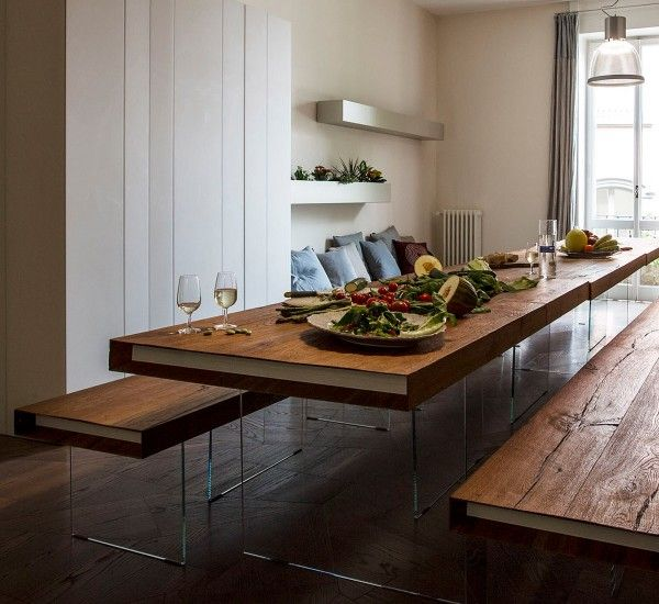 The Table Air Wildwood by Lago is always a best seller. The table is available in natural, gray and dark Wildwood.