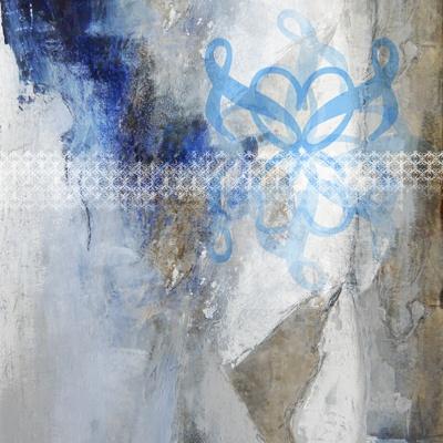 Silence Blue, photocollage by lydia luczay