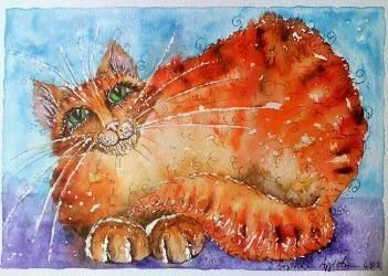 Fred the Farm Cat by Artist Sophie Appleton www.sixfootsophie.co.uk