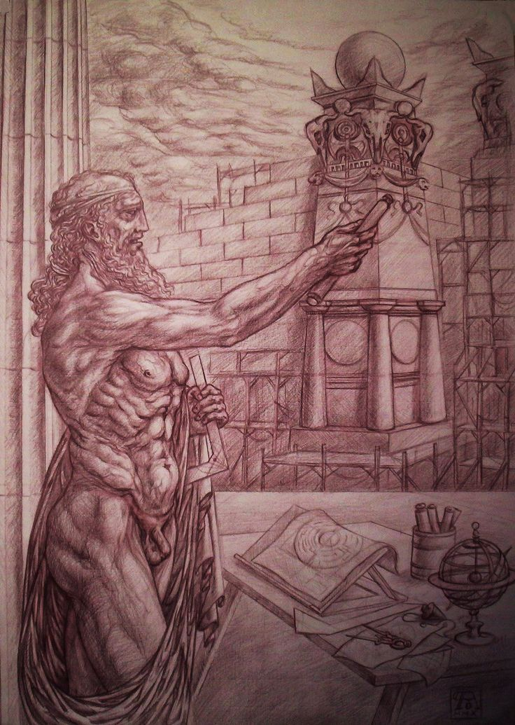 "Pasquale Abbatiello - ""The architect of the labyrinth"" - drawing of a few years ago"